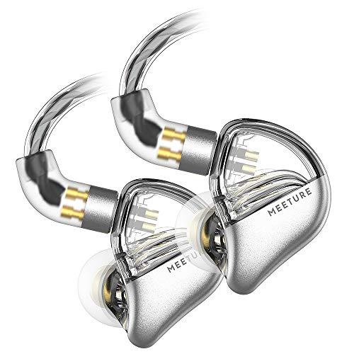 SIMGOT MT3 Écouteurs intra-auriculaires haute résolution IEM avec câble amovible, isolation phonique avec pilote dynamique, écouteurs HiFi pour smartphones et lecteurs audio (clair)