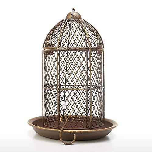 GHDBHFD Bird Feeder Vogelkäfig Feeder Hängen Wild Bird Haus Metall Feeder Garten Hinterhof Dekoration Vogelkäfig Zubehör Geschenk