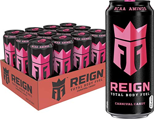 Reign Total Body Fuel, Carnival Candy, Fitness & Performance Drink, 16 Fl Oz (Pack of 12)