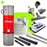 Allegro Central Vacuum MU4100 3,000 sq. ft. Unit 30 ft Hose and Powerhead Kit