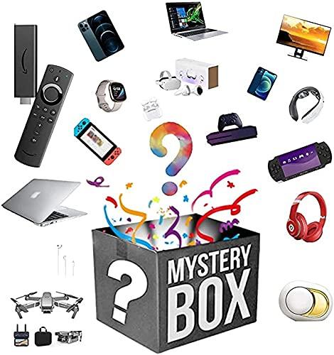 UAUA Caja de Misterio, Cajas de Suerte, Caja de explosión del Producto Caja Sorpresa, teléfonos celulares, computadora portátil, smartwatches, Auriculares inalámbricos, e