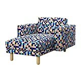 Soferia - IKEA NORSBORG Funda para chaiselongue, Mozaik Blue