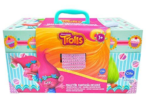 TROLLS, maletín Fantasía artístico Deluxe (Cife Spain 40531)