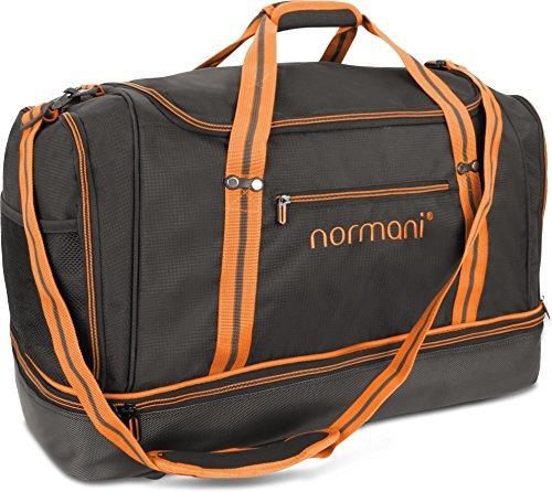 normani Sporttasche 90   58   28 Liter Reisetasche mit separatem Schmutzwäsche- und Schuhfach Sportlich Schlichtes Design Weekender Farbe 90 Liter Orange