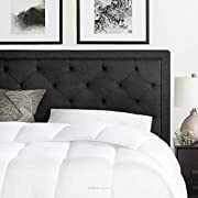 Brookside Upholstered Headboard with Diamond Tufting - Queen - Charcoal