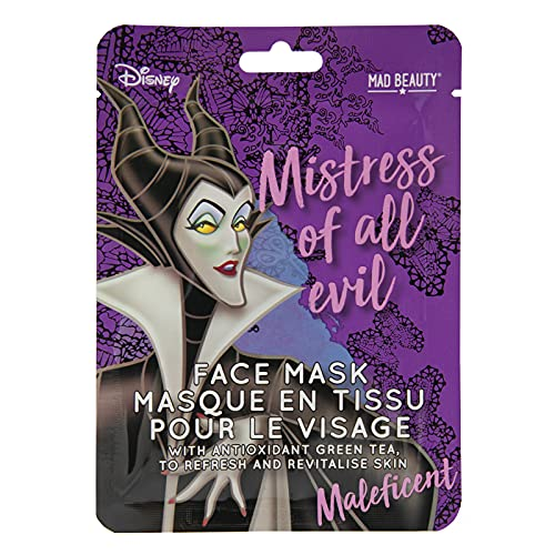 MAD Beauty - Mascarilla Facial Revitalizante Disney - Maleficent, Té Verde