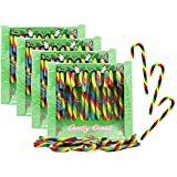 Christmas Candy Canes Suckers, Multicolored Peppermint Flavor, Individually Wrapped, 48-Pack