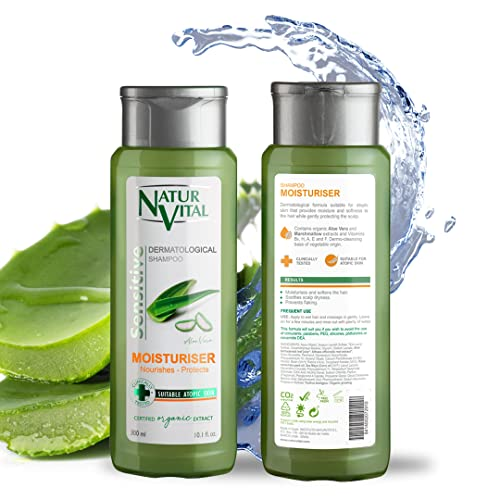 NATUR VITAL champú sensitive hidratante con aloe vera bote 300 ml