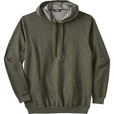 KingSize Men's Big & Tall Fleece Pullover Hoodie - Big - 4XL, Olive Marl from KingSize