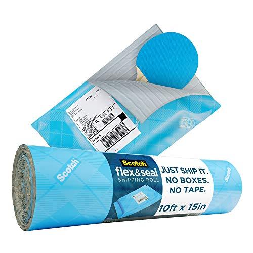 Scotch フレックス&シール 配送ロール 15インチ x 10フィート 簡易包装 段ボール箱の代替品 気泡緩衝材 ポリバッグ クッション性 10 Ft.