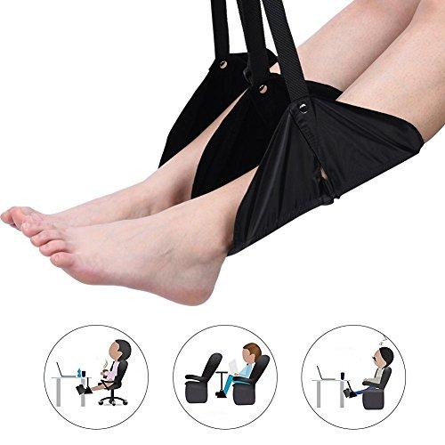 Tbest voetenhangmat onder bureau-voetensteun, handbagage-voetensteun, verstelbare voet-hangmat onder bureau-voet-riem voor binnenklachten, kampeerreis ontspannen jezelf