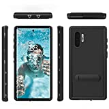 Samsung Galaxy Note10+plus Waterproof Case-Full Body Case with Built-in Touch Sensitive Anti-Scratch Screen Protector, IP68 Shockproof Impact Resist Durable Protective Case for Galaxy Note10+ (Black)