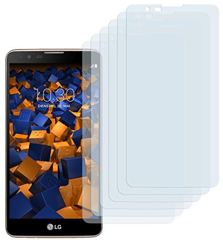mumbi Schutzfolie kompatibel mit LG Stylus 2 Folie, Stylus 2 Plus Folie klar, Bildschirmschutzfolie (6X)