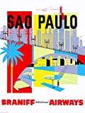 Sao Paulo Airways Poster, Reproduktion, Format 50 x 70 cm,