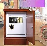Yuanoo Electronic Digital Security Caja de Seguridad con la Pantalla Led de Huellas Dactilares Biométricas para la Joyería de la Oficina, 42X39X56Cm, Rojo/Rojo