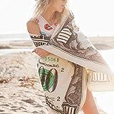 Balight Cien dólares de EE. UU. Bill Toalla de Playa Decorativa Toalla de baño Impresa para la Playa Piscina Tomar el Sol