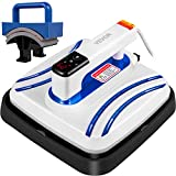 VEVOR Portable Heat Press 10x10 Inch Easy Press 800W Mini Heat Press with Hat Press Attachment Automatic Heat Press Machine for T Shirts Bags Hats and Small HTV Vinyl Projects(Blue)