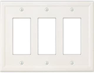 Questech Cornice Insulated Decorative Switch Plate/Wall Plate Cover – Made in the USA (Triple Decorator, White)