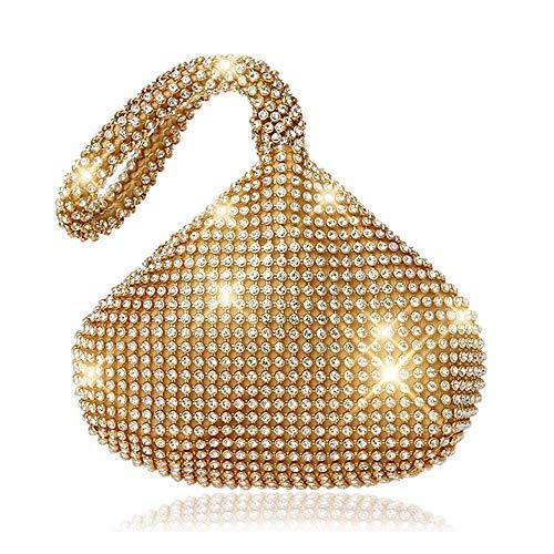 JIAN YA NA Ladies 'Evening Clutch Bling Glitter borsa triangolo...