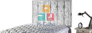 H-Cube Meble Divan łóżko podstawa zagłówek zgnieciony aksamit dopasowanie/diamentowe guziki 100 cm montowane na ścianie (s...