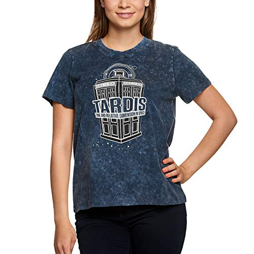 Camiseta Mujer Doctor Who Tardis Elbenwald Algodón Azul - L