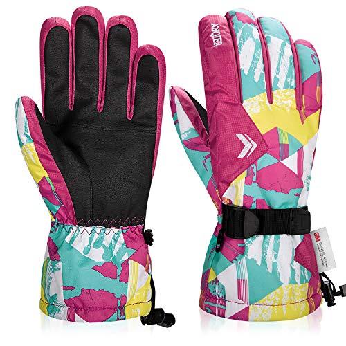 coskefy Wasserdicht Handschuhe Herren Damen Warm Fahrradhandschuhe Winter Skihandschuhe Herren Damen 3M Thinsulate Sport Handschuhe für Reiten Laufen Skifahren Wandern Radfahren Motorrad Snowboard