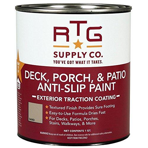 RTG Deck, Porch, & Patio Anti-Slip Paint (Quart, Sand)