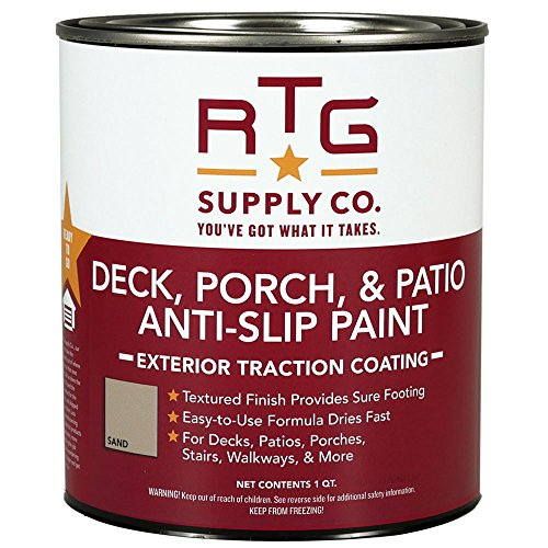 RTG Supply Co. Deck, Porch, Patio Anti-Slip Paint (Quart, Sand)