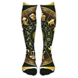 2021 Fashion Thigh High Socks Cotton Over the Knee Socks,Hand Drawn Style Colorful Bedding Plants Roses and Wildflowers with Little Dots (32),Long Knee High Socks for man and woman 60cm