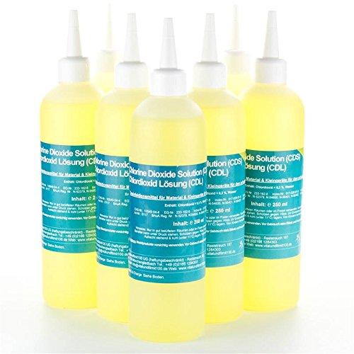 Chlordioxid Lösung 0,3% - CDS/CDL - Sparpaket 5+2 gratis - 7 Flaschen CDS CDL à 250 ml - Chlordioxidlösung nach Originalrezeptur - MADE IN GERMANY - Zum Sonderpreis!