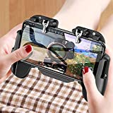 Mobile Game Controller, Wireless Gamepad Gaming Trigger Game Telescopic Controller with Fan Compatible with iOS/Android Phone PC Tablet