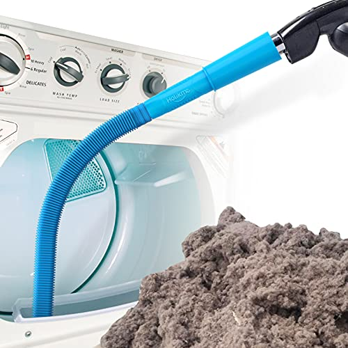 Holikme Dryer Vent Cleaner Kit Vacuum Hose Attachment Brush, Lint Remover, Dryer Vent Vacuum Hose, Blue
