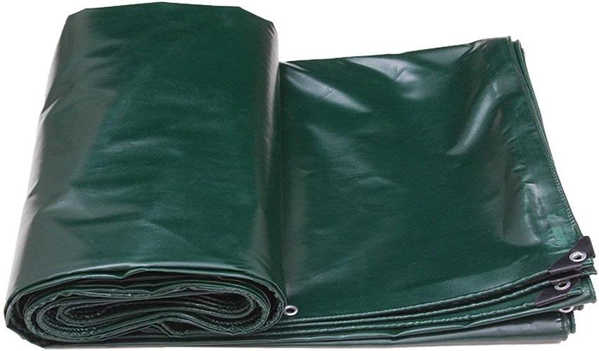 ATR Bache Tissu Enduit de PVC crypté Vert foncé, Double Face, Anti-Pluie et Longue durée, Pare-Soleil, Facile à Transporter (Couleur  Vert, Taille  3  2m)