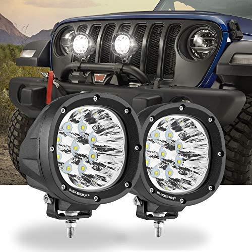 Auxbeam 4 Inch Round LED Offroad Lights, 2PCS 40W Round LED Driving Lights Work Light with 3535 LED White Spot Beam Light Offroad Driving Light Fog Light for Truck Pickup SUV ATV UTV 4x4 Jeep Wrangler