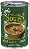 Amy's Organic Vegetable Barley Soup, Low Fat, Vegan, 14.1-Ounce...