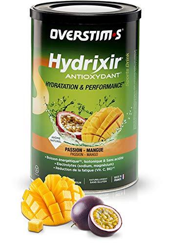 OVERSTIM.s – Hydrixir Antioxydant (600g) - Mangue passion – Boisson énergétique isotonique pour le sport - Hydratation et Performance – Arômes naturels - Sans acidité - Sans conservateur
