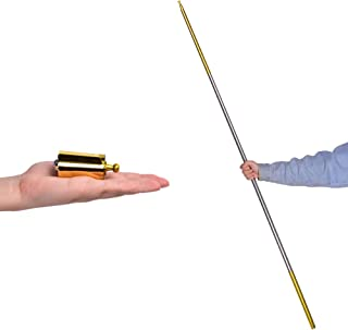 """bigbao Metal Appearing Cane Magic Wand for Professional Magician Stage Close-up Magic Trick Magic Accessories (Golden Silver, 55"""")"""
