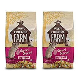 TINY FRIENDS FARM SUPREME GERRI GERBIL COMPLETE FOOD FEED MUESLI 2 X 850G BAGS