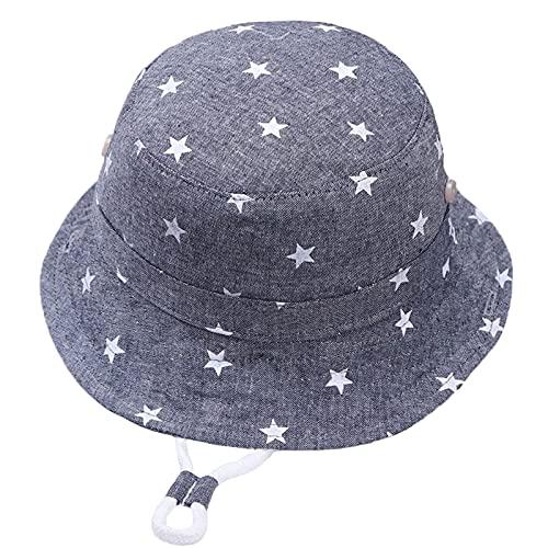 Kids Star Sun Gorras, Niños Sombreros De Verano Niños New Baby Pescador Hat 6 Meses A 8 Años,Dark Blue,50cm