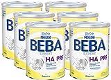 BEBA EXPERT HA PRE Hydrolysierte Anfangsnahrung von Geburt an, 6er Pack (6 x 800 g)