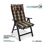 Homeoutfit24 Sun Garden 4-Stück Gartenstuhl-Auflage - 4