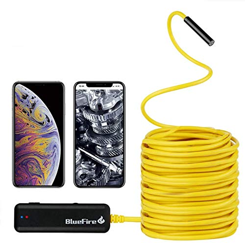BlueFire Semi-Rigid Flexible Wireless Endoscope IP67 Waterproof WiFi Borescope 2 MP HD Resolutions...