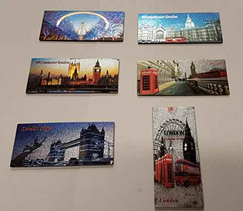 DEALBOX 6 pcs I Love London England souvenirs fridge magnet set by Deal box