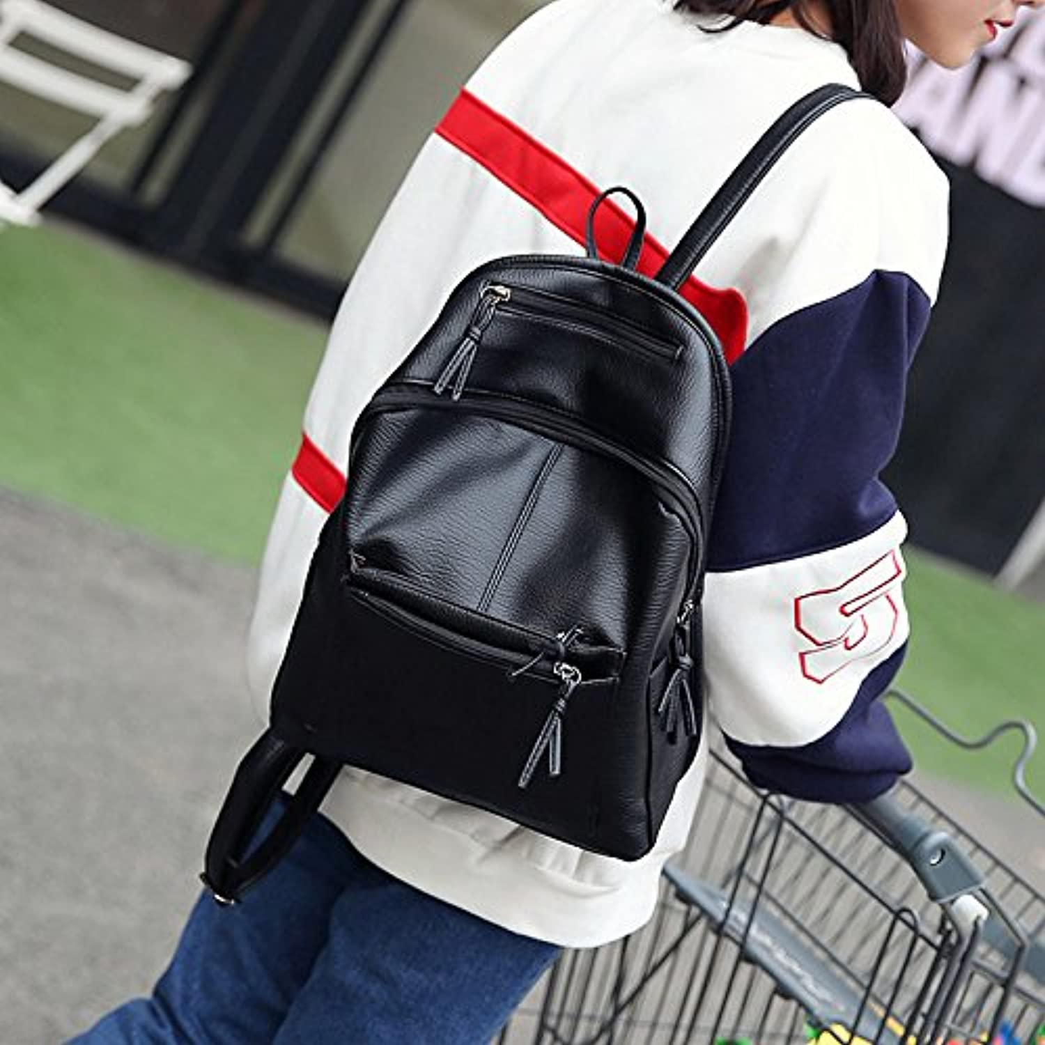 Women's Shoulder Bag Korean Version of The pu Purse Backpack Autumn and Winter Fashion Casual Men's Ladies Bag