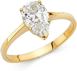 Best yellow gold pear shaped engagement ring Reviews