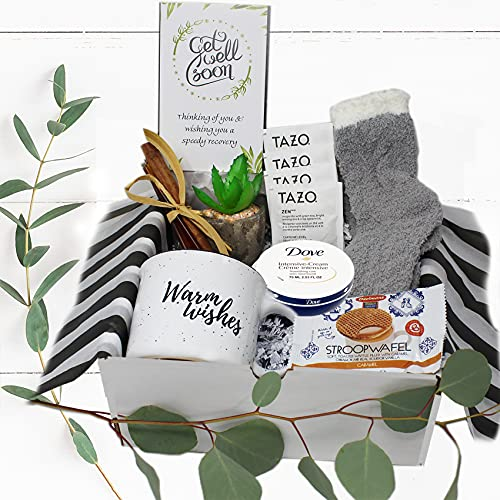 Get well soon gift for women   Care Package gift basket for after surgery recovery, cancer, Injury   feel better encouragement hospital female gift w/ snacks & personal care   Friend, Mom, girlfriend