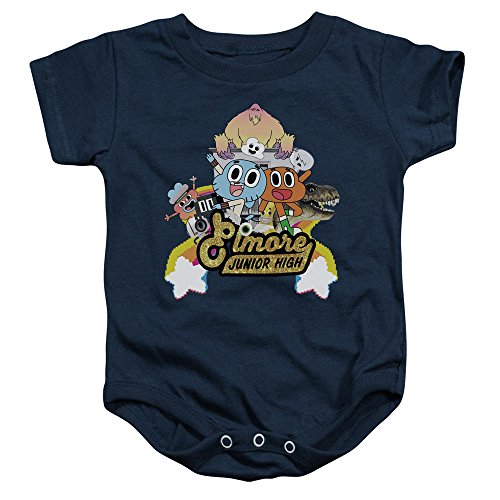 Amazing World Of Gumball - - Tout-Petit Elmore Junior High Onesie, 24 Months, Navy