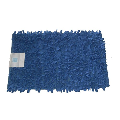 Studio A Blue Fat Fleecey Shag Throw Rug Shaggy Bath Accent Mat