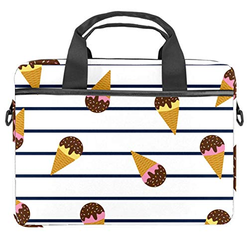 13.4'-14.5' Laptop Case Notebook Cover Business Daily Use or Travel Summer Ice Creams Marine Stripes