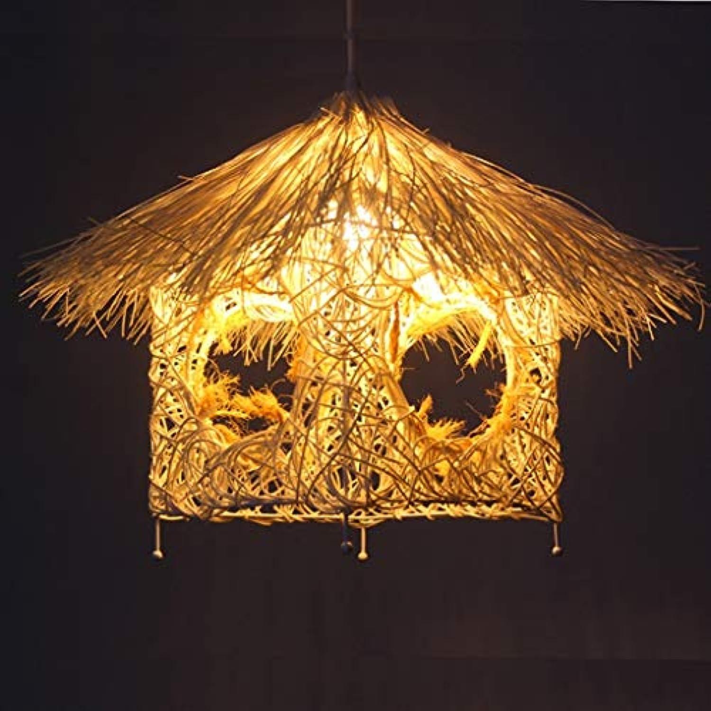 Die Idee des idyllischen Zuckerrohr Kfig personalisierte Kunst Kronleuchter Terrasse Cafe Restaurant Beleuchtung Whlen (Farbe  wei)